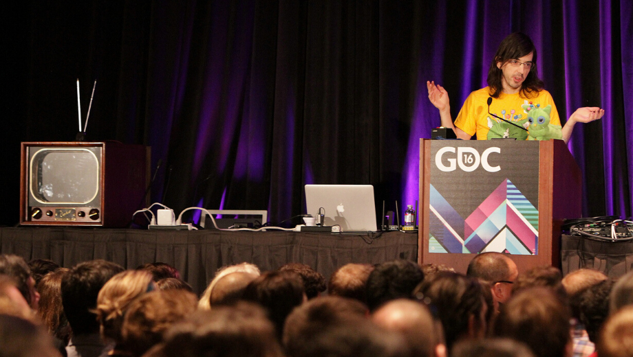 GDC presentation with many attendees