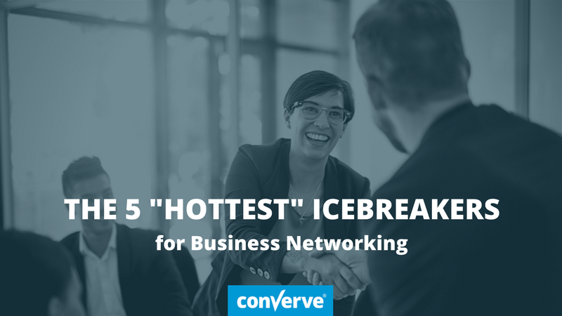 The 5 best icebreakers for business networking at trade fairs and congresses through the Converve platform