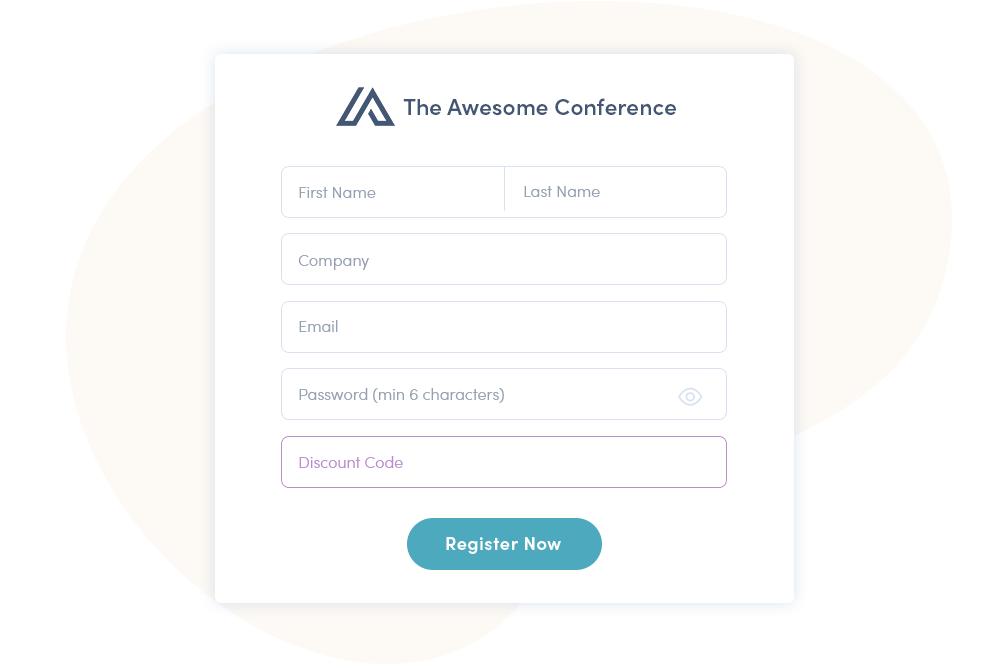 Event Registrierung mit Converve