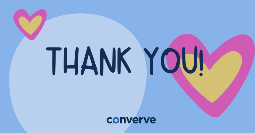 Thank you from converve